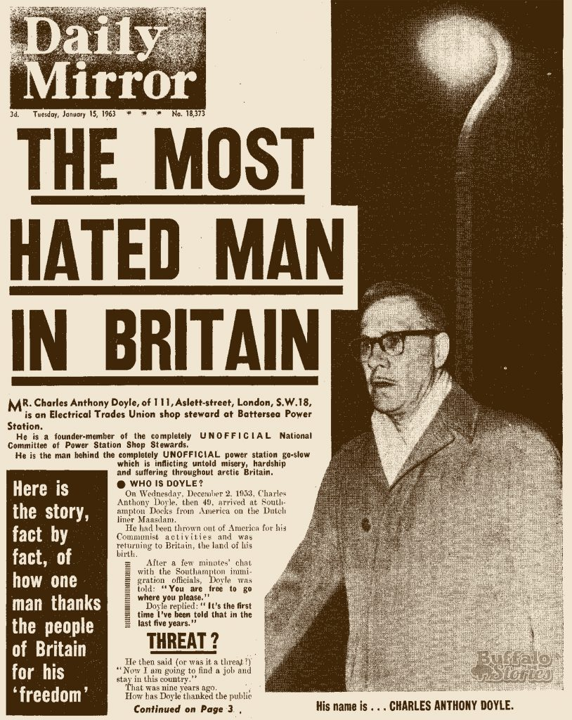 """London tabloid """"The Daily Mirror"""" called South Buffalo s Charlie Doyle """"the  most hated man in Britain."""" (Buffalo Stories archives) 091f12f6afbb"""