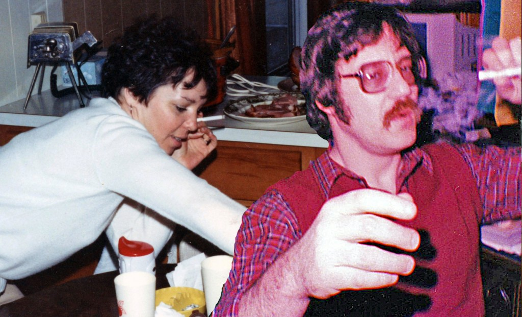dad and pam smoke