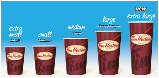tim hortons sizes