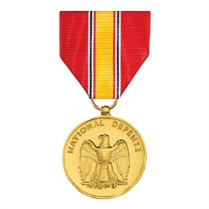 The only medal listed on the ol'man's DD-214-- The National Defense Service Medal.