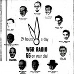 From the Courier-Express, 1958. John Otto one of the many faces around the clock on WGR. Others include Dan Neaverth, Phil Soisson, Hernando, Jack Mahl, Frank Dill, John Gill, Ollie Howard, John Lascelles, Bill Mazer, Roger Baker, and Warren Michael Kelly.