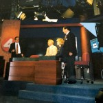 Don Paul, Don Postles, Carol Jasen, Van Miller... Moments before Van's last sportscast, 1998.