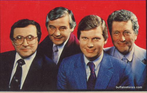 Irv Weinstein, Rick Azar, Don Postles, and Tom Jolls… The wide-tied Eyewitness News team c. 1980.