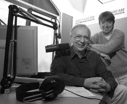 by wippert 1/21/02 John Zack and Susan Rose at WBEN Radio in their Amherst studios.