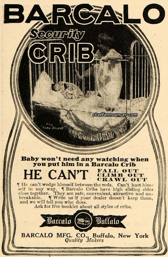 Encouraging abandoning your child in a Buffalo-made cage, 1910s.