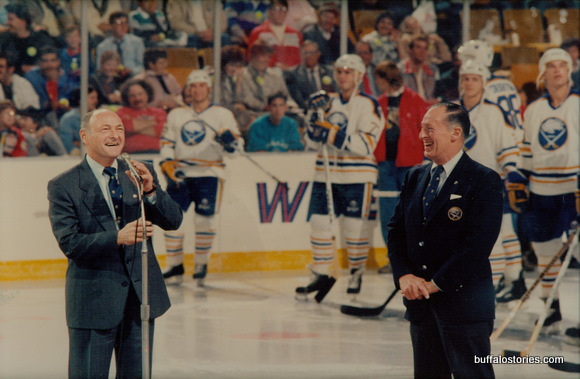 With Seymour Knox on the Aud ice…
