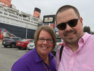 We spent the night on the Queen Mary. It's permanently moored as a hotel and museum.