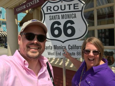Route 66 ends in Santa MONICA.