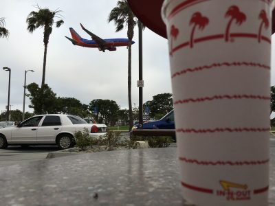 Second In-And-Out visit of the trip... this one was very close to LAX... Fun watching the planes come in.