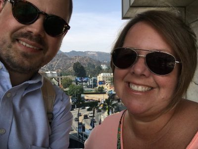 Lots of editing on this one , so hopefully you can make out HOLLYWOOD in the hills behind us.