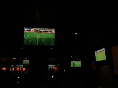 San Jose basically runs into San Francisco. We were staying between the two. Stanley Cup game overtime in San Jose. Bar shows only soccer. !?!??!