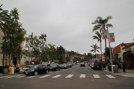 The hills of Old Town San Diego.