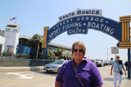 St Monica at Santa Monica Pier...