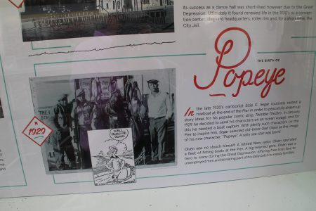 Popeye was inspired by sailors at Santa Monica Pier in the olden black-and-white days...