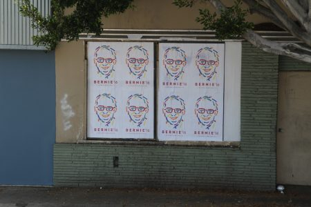It looked like a Bernie Sanders campaign headquarters exploded all over LA.