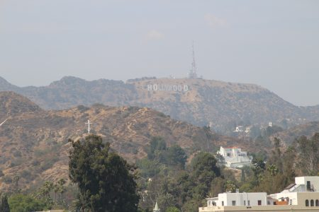 It was hazy on the day we were in LA.... Bad for getting good shots of the sign.