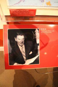 Reagan using a Neumann U-87 mic.