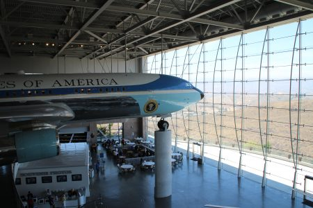 They towed a retired Air Force One to the Middle of nowhere, then built this glass structure around it.