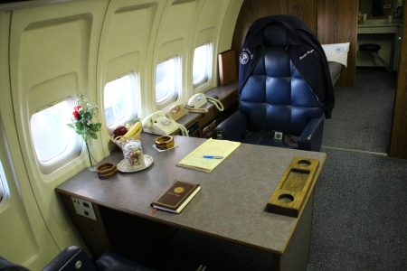 The Ptresident's desk on Air Force One...