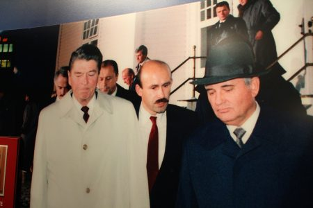 This guy was all over the museum. One of my favorite guys of the 80s. Not Reagan. Not Gorbachev. Gorbachev's mustachioed interpreter.