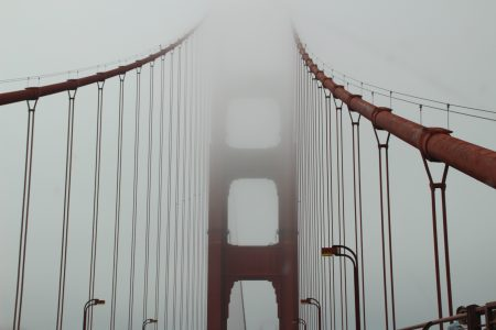 The whole trip was foggy... But San Francisco was really foggy both days.