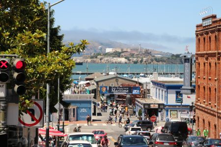 The only view we had of Alcatraz... Tickets sell out WAY in advance.