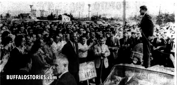 An impromptu JFK speech in Wheatfield