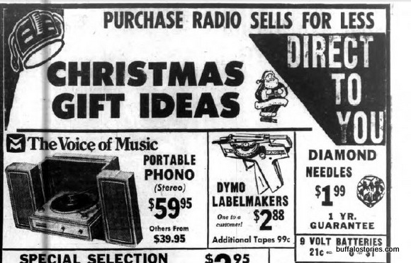 Purchase radio label
