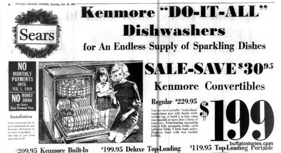 Sears Happy female dishwashers