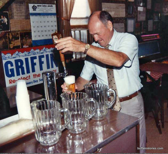 A true man of the people and a one-time gin mill owner, Mayor Griffin poured a fine beer…