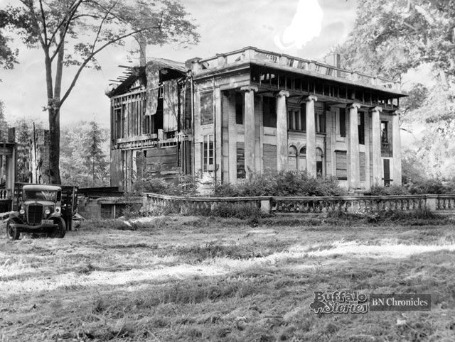 The photo shows the home in 1949, dismantled, awaiting court approval for a final demolition and the building of a home for the aged on the property. At the time, this core part of the house was the citys oldest surviving dwelling.