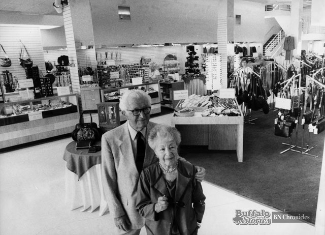 Anne and Louis Bunis inside Samples flagship Hertel Avenue location. Buffalo News archives