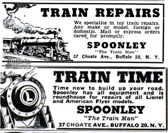Advertisements for Spoonley, which appeared in magazines around the country from the 1940s- 1970s. (Buffalo Stories archives)