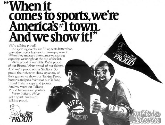Bills and Sabres fans were talking proud in the early 80s. (Buffalo Stories archives)