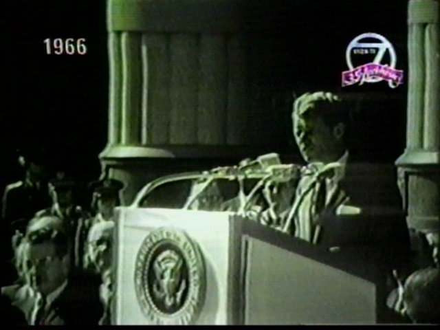 Bobby Kennedy speaks in Buffalo