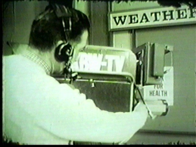 an old RCA camera on the Weather Outside set