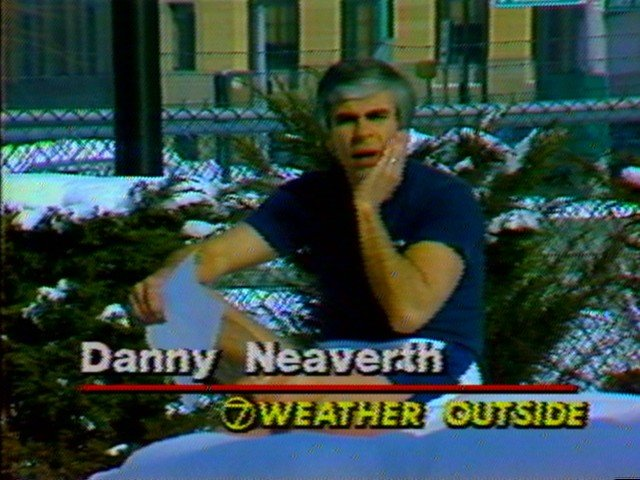 Danny Neaverth in a snow bank