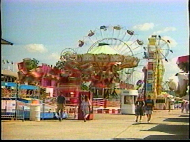 The Erie County Fair midway