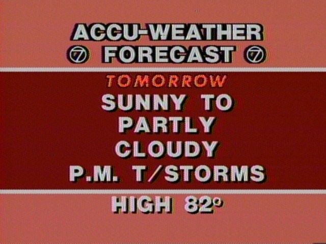 Early 80s Weather graphics