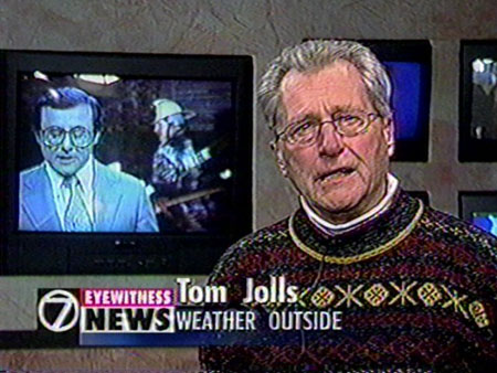 Tom Jolls as Irv retires, 1998.