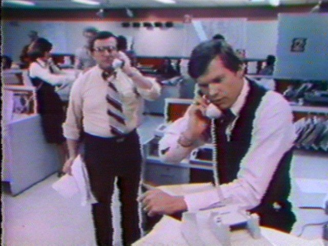 Irv Weinstein and Don Postles work the phones
