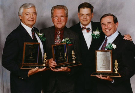 When they went into the Buffalo Broadcasting Hall of Fame in 2000, I snuck behind the stage to get a photo with the greatest triumvirate in the history of Buffalo. They had no idea who I was. Ten years later, I wrote a book about them.