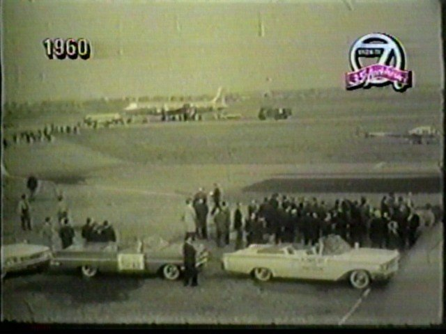 JFK motorcade at the Buffalo Airport