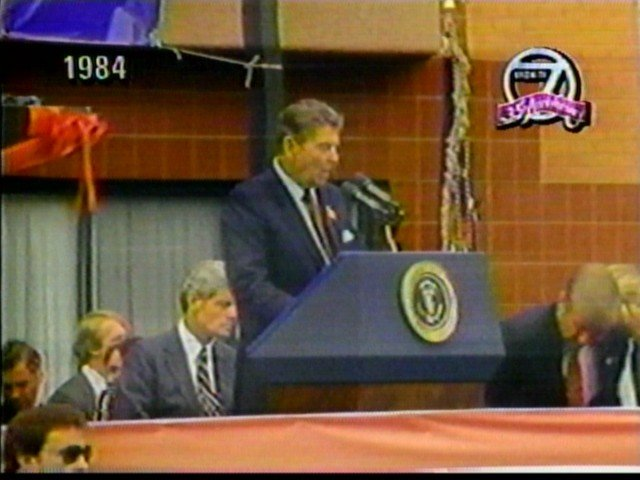 President Reagan in Buffalo