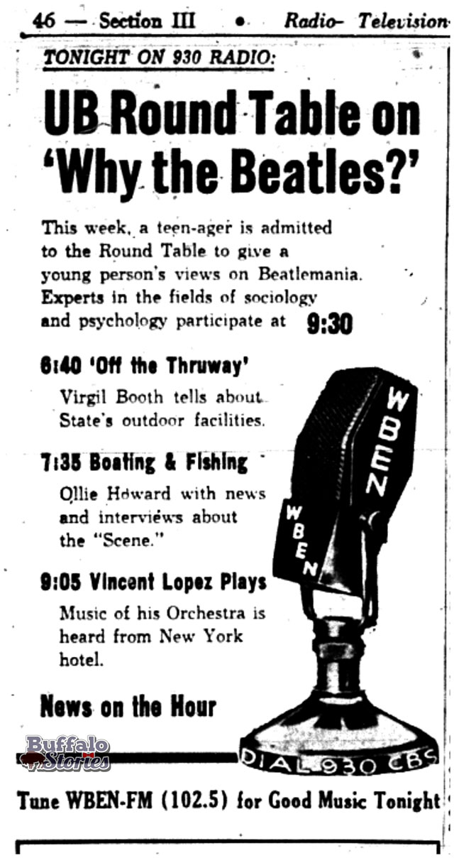 Buffalo Evening News, 1964. Buffalo Stories archives
