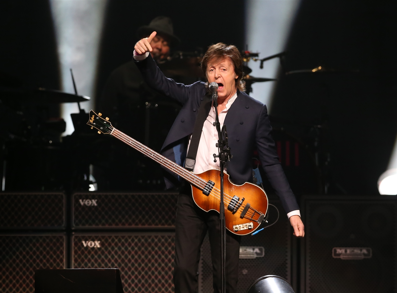 Paul McCartney during his 2015 show at First Niagara Center. (Sharon Cantillon/Buffalo News)