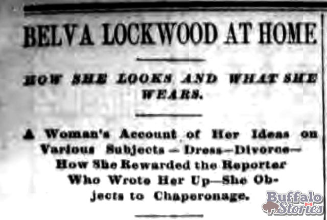 Buffalo Evening News, August, 1888