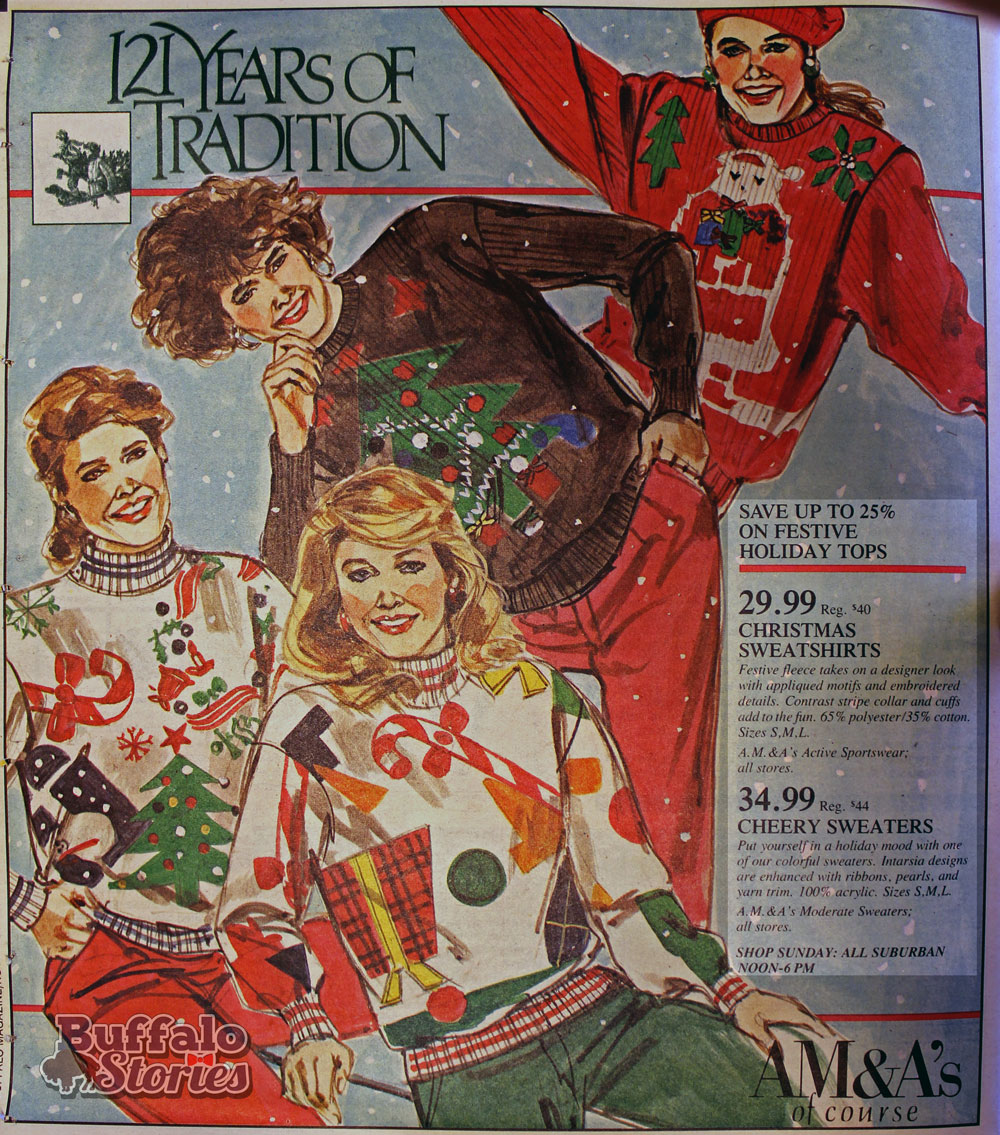 Buffalo In The 80s Ugly Christmas Sweaters At Amas Buffalo