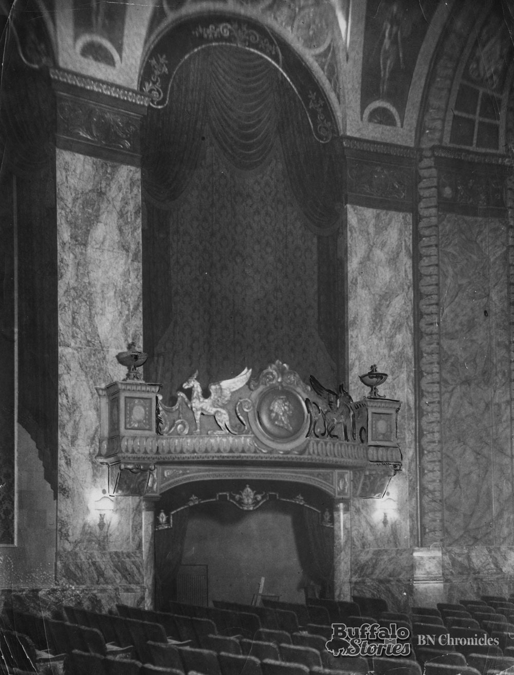 Inside the Sheas Seneca just before opening night, 1930. Buffalo News archives