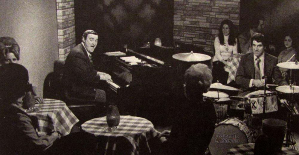 Jackie Jocko and Joe Peters, 1972. St. George's Table in the basement of the Westbrook Hotel, Delaware Avenue.